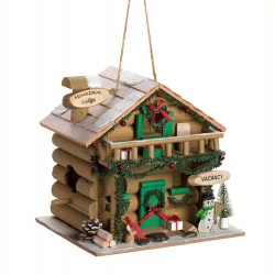 Mountain Lodge Holiday Birdhouse