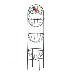 Rooster 3-Tier Kitchen Basket