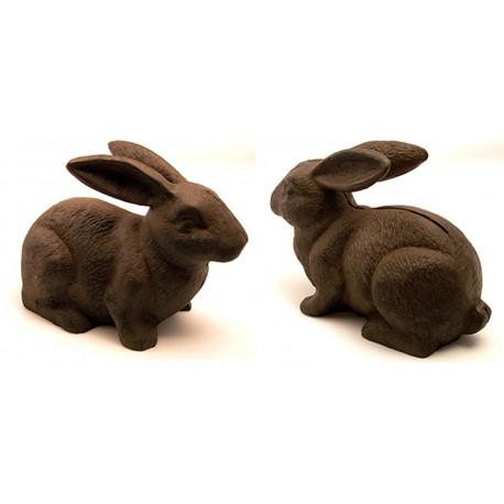 Cast Iron Rust Bunny Rabbit Door Stop
