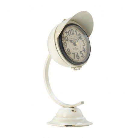 White Vintage Desk Clock
