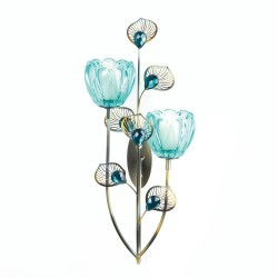Peacock Blossom Duo Cup Sconce