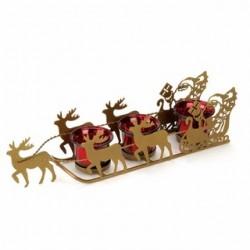 Shimmering Santa's Sleigh Candleholder