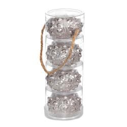 Silver Sea Urchin Candle Set