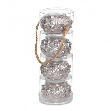 Silver Sea Urchin Candle Set