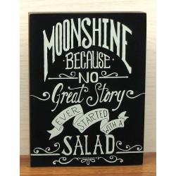 Wood Moonshine Sign