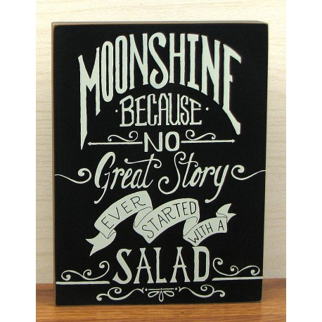 Wood Moonshine Sign