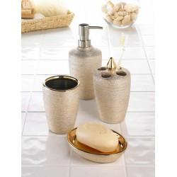 Golden Shimmer Bath Accessory Set