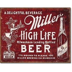 Tin Sign Miller - Bound to Please
