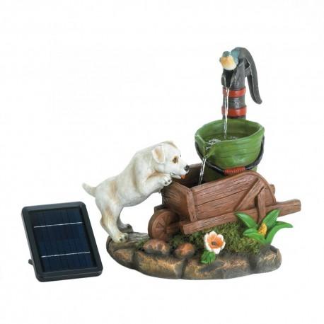Solar Puppy Dog Fountain