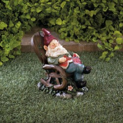 Red Bird Rocking Chair Gnome