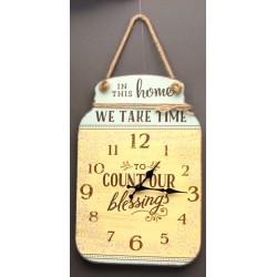 Count Our Blessings Tin Wall Clock