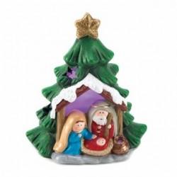 Light-Up Nativity Tree Decor