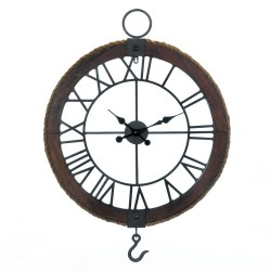 Industrial Round Wall Clock