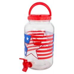 1 Gallon Patriotic Beverage Dispenser