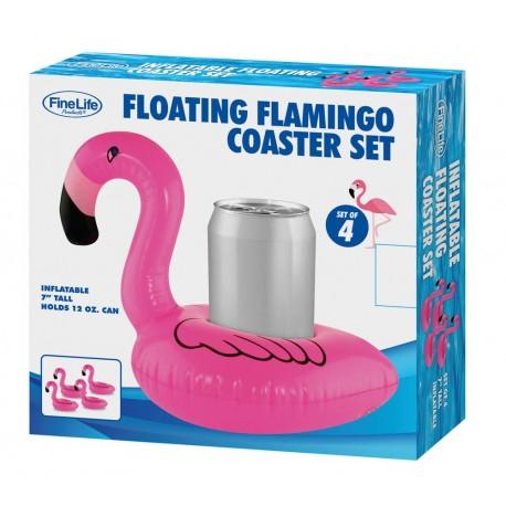 Floating Flamingo Coaster SET OF 4
