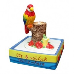 Ceramic Parrot Fountain - 5 o'clock Somewhere