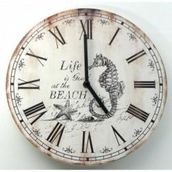 Wood Nautical Wall Clock