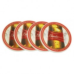 Budweiser Absorbent Coaster Set