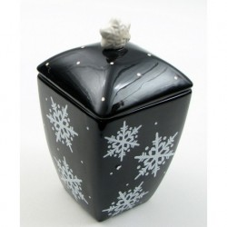 Midnight Snow Cookie Jar