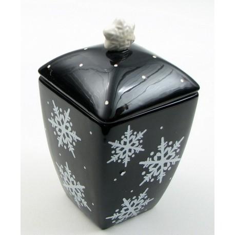 Midnight Snow Cookie Jar