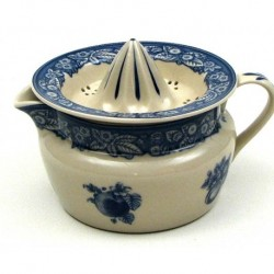 White Porcelain Juicer w/Blue Trim