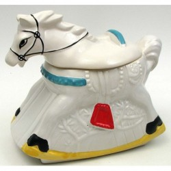 Ceramic Rocking Horse Cookie Jar