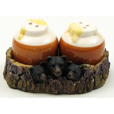 Bear With Honey Jar Salt and Pepper Set
