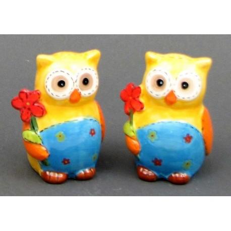Ceramic Owl S/P Set