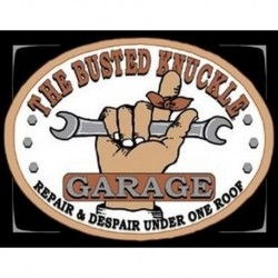 Tin Sign Busted Knuckle Garage