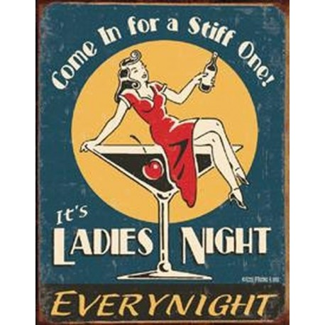 Tin Sign Moore - Ladies Night