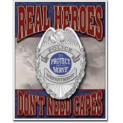 TIN SIGN Real Heroes Police