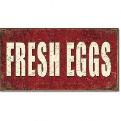 TIN SIGN Fresh Eggs