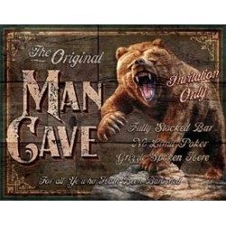 Tin Sign - Man Cave - The Original