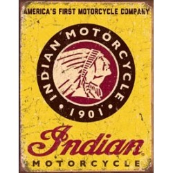 Tin Sign Indian Motorcycles Since 1901
