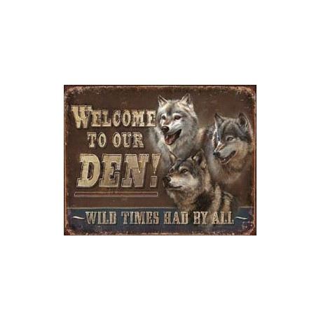 Tin Sign - JQ - Den - Welcome