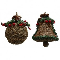 Jute-look Ball Ornament Set of Two