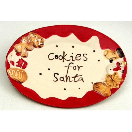 """Cookie For Santa"" Plate"