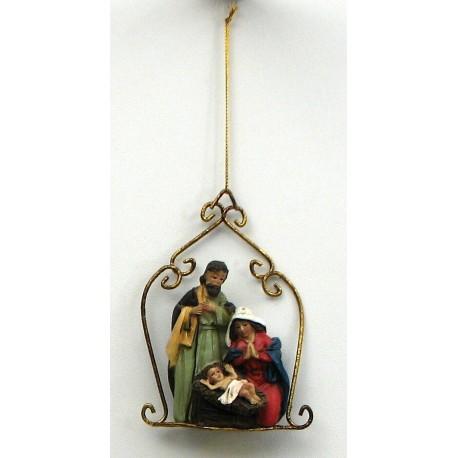 Resin Nativity Ornament
