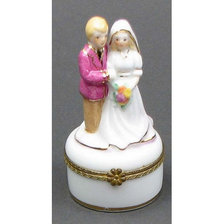 Wedding Couple on Mini Trinket Box