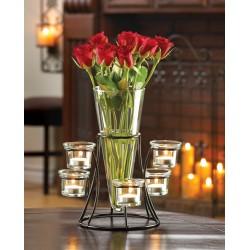 Circular Candle Stand Centerpiece Vase