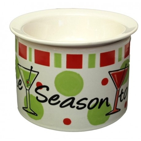 Christmas Stoneware Large Dip Chiller