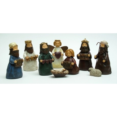 Mini Nativity Nine Piece Set