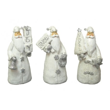 Resin Santa Figurines Set of Three