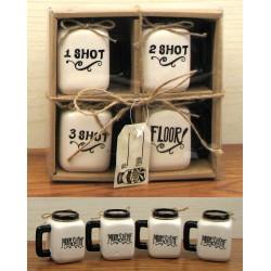 Ceramic Mason Jar Shot Glass Set
