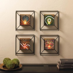 SET OF 4 Mosaic Wall Sconces