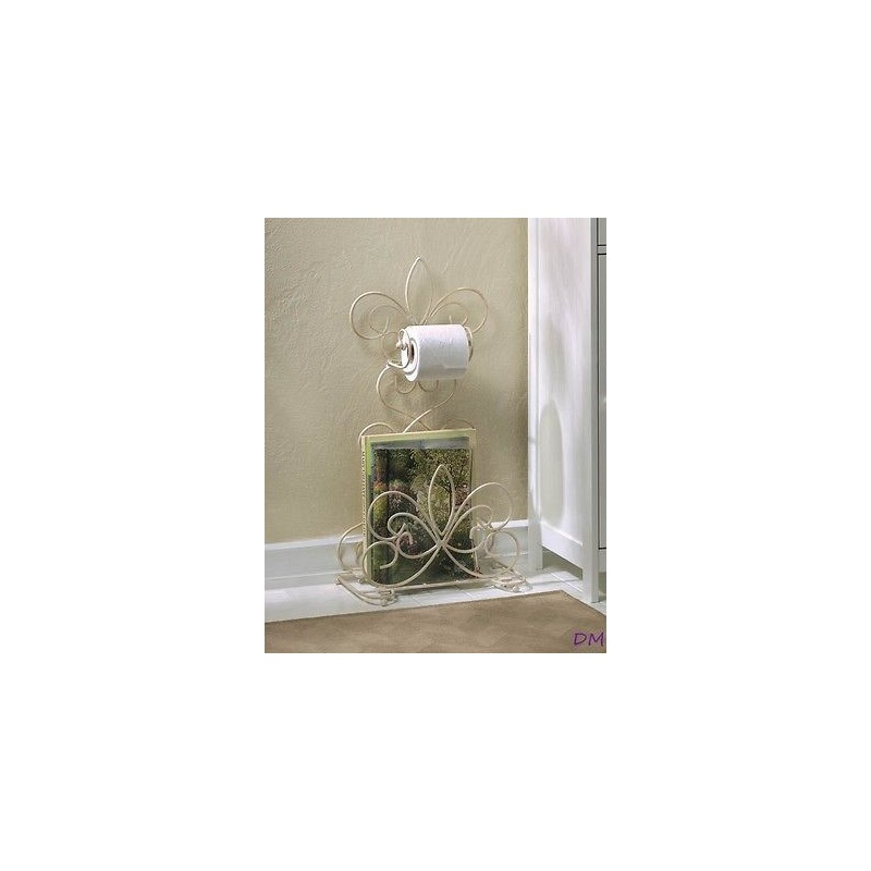 Fleur de lis standing toilet paper holder rack db decorate - Fleur de lis toilet paper holder ...