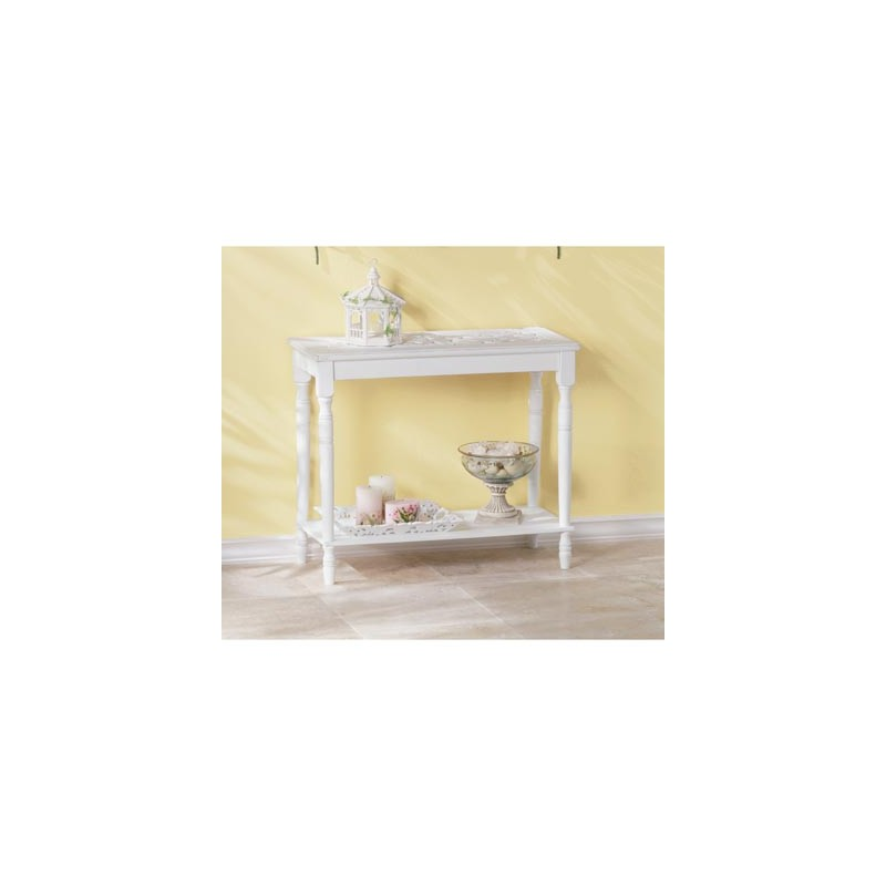 White Wood Console Table Db Decorate
