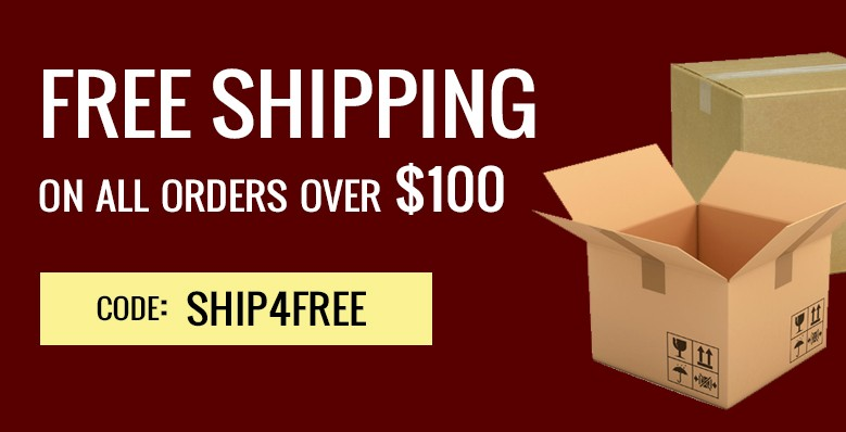 free shipping on $100 + orders