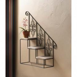 Black Stair Steps Wall Shelf