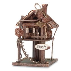 Tree House Bird House Feeder